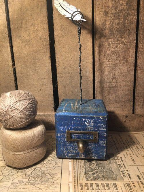 cubes-bois-porte-photo-vieillis-bleu