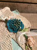 Couronne fleurs bleues 3