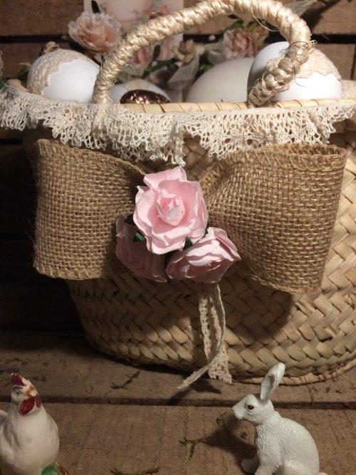 panier fleur rose 3