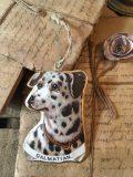 Chromo chien dalmatien à suspendre