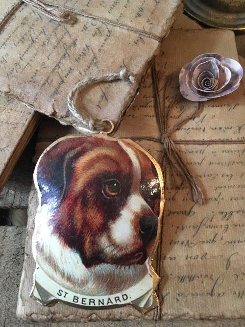 Chromo chien saint bernard à suspendre
