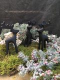 décoration de noel renne reindeer en fer noir