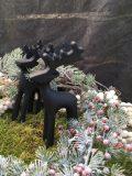décoration de noel renne reindeer en fer noir 2