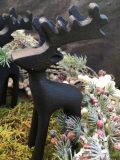 décoration de noel renne reindeer en fer noir 3