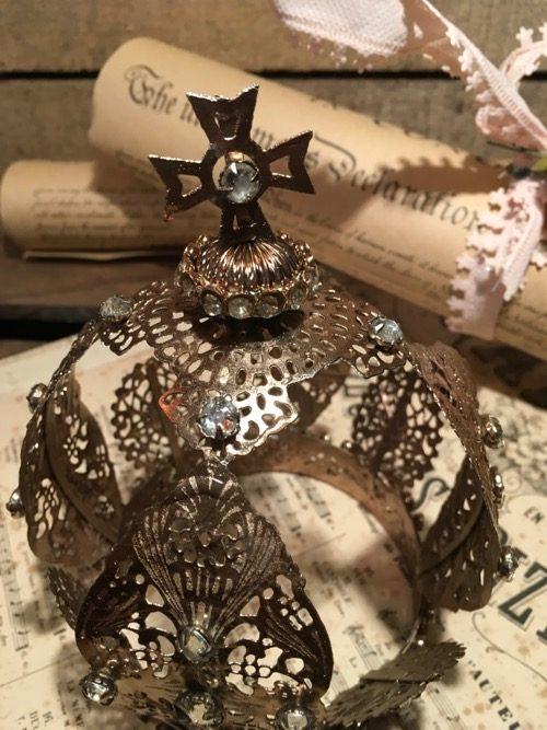 couronne precieuse bronze perles modèle 2 3