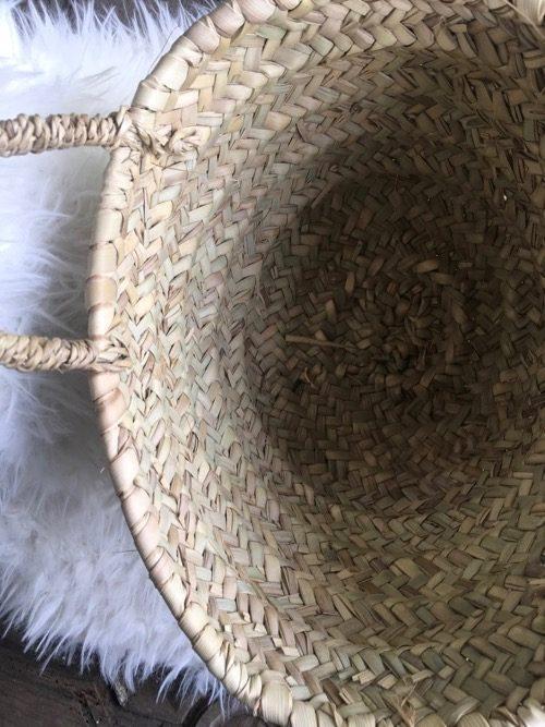 Panier palme pompon interieur