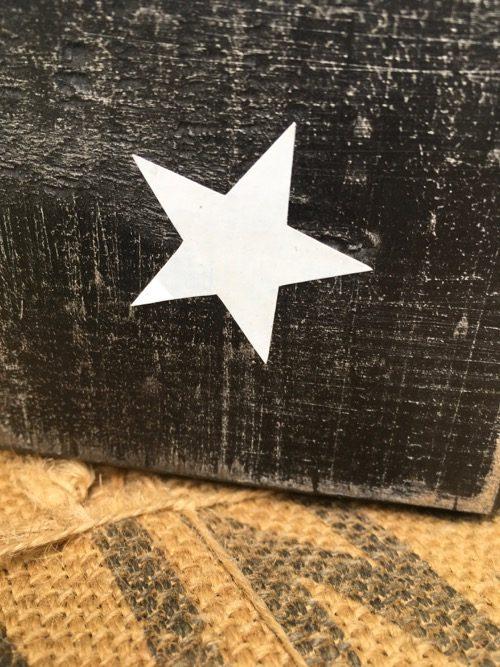 cube en bois noir etoile 3