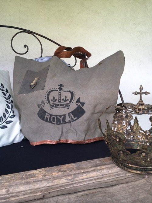 sac toile royal noir