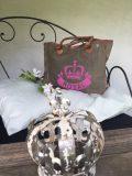 sac toile royal rose