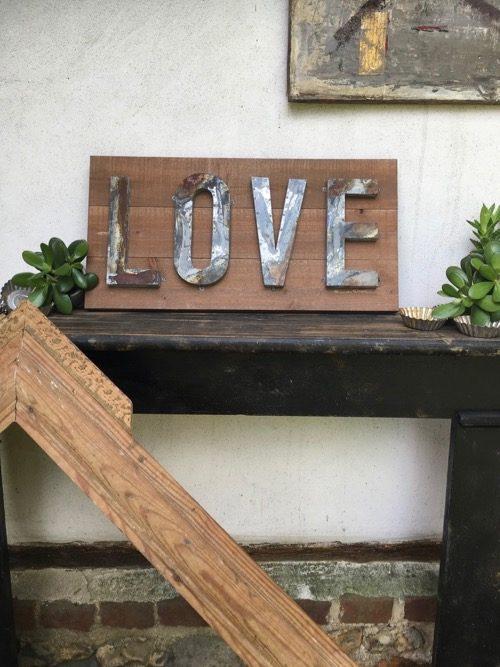 tableau lettres en fer love