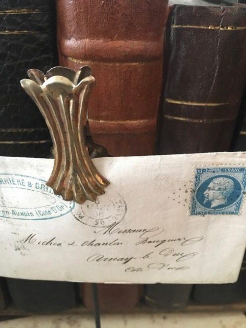 Enveloppe ancienne sur pince arnay le duc 2