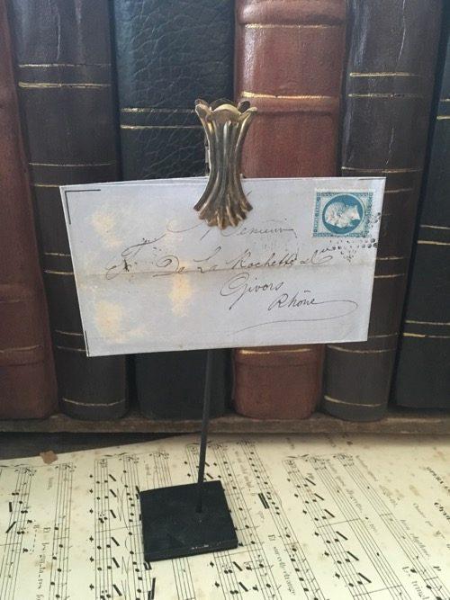 Enveloppe ancienne sur pince givors 2
