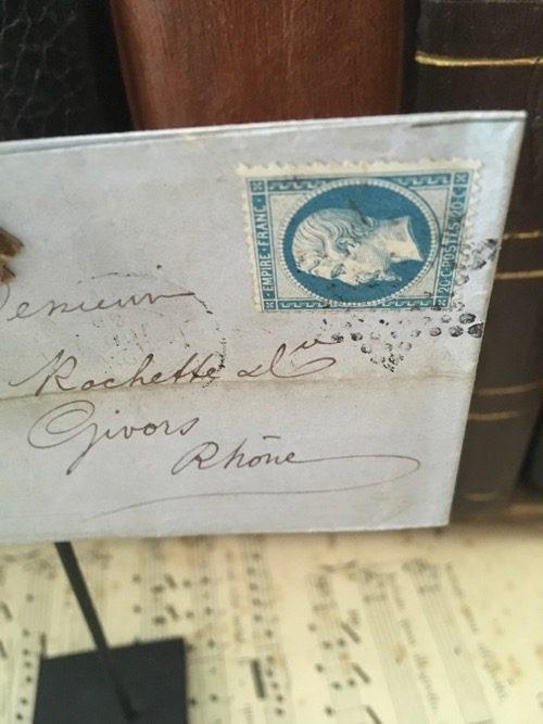 Enveloppe ancienne sur pince givors 21