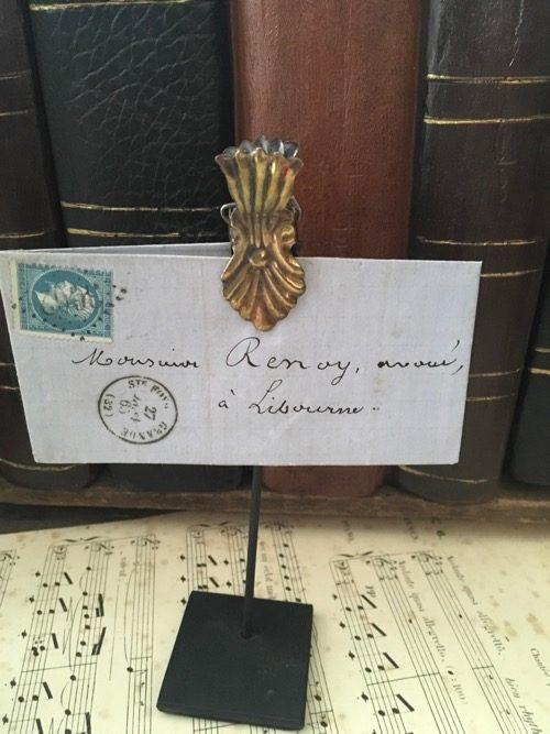 Enveloppe ancienne sur pince libourne
