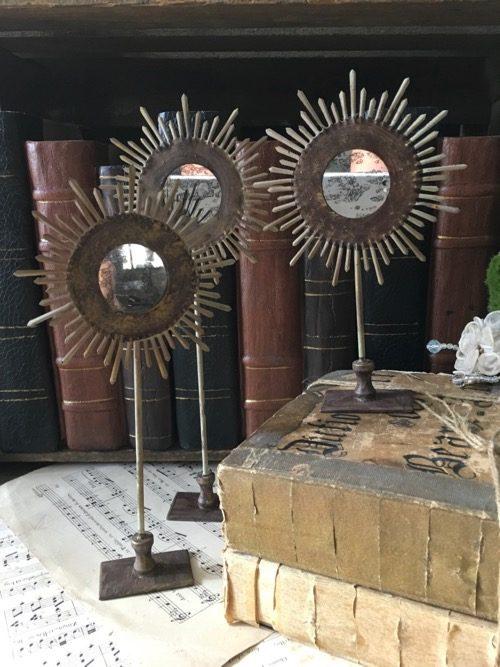 soleil baroque doré miroir louis XVI  merci louis
