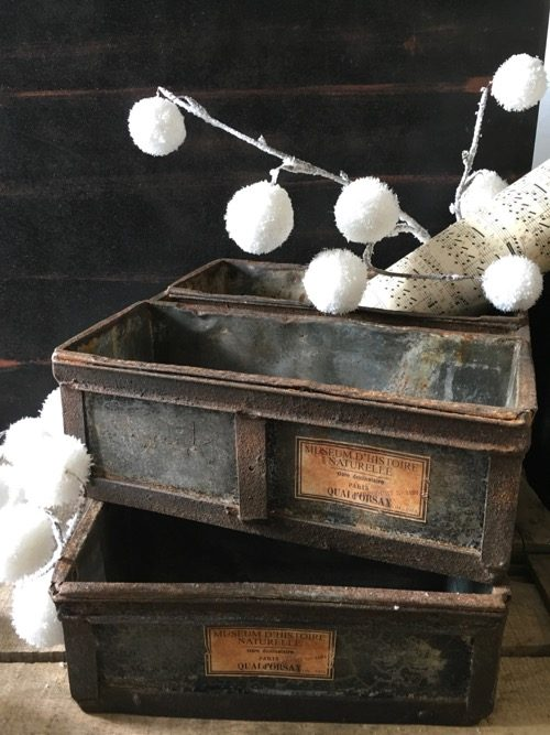 plateau tiroir rangement usine ancien