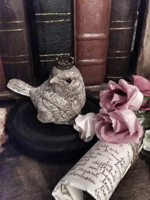 oiseaux couronne en résine 4