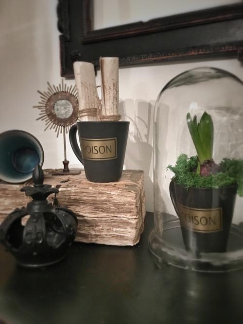 tasses poison céramique noir cabinet de curiosités