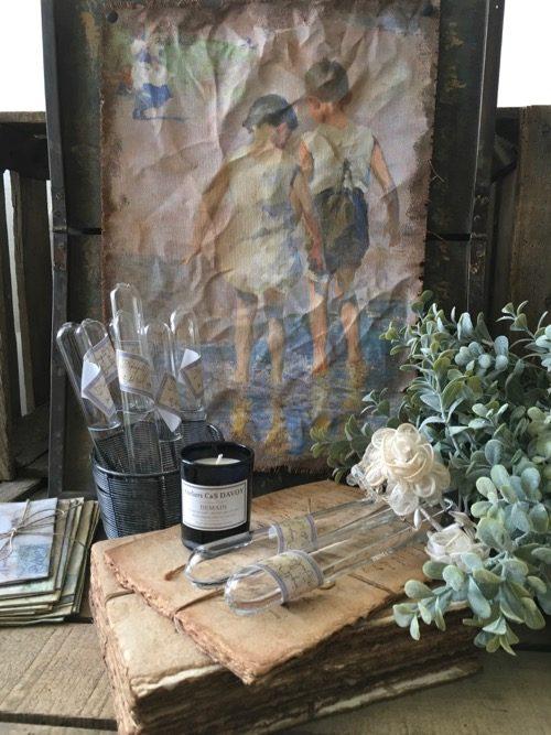 tubes à essais eprouvettes vintage en verre decoration cabinet de curiosités